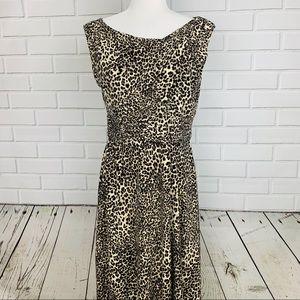 JESSICA HOWARD Tiger King Leopard Print Dress 10